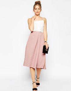 Image 1 ofASOS Prom Midi Skirt in Texture