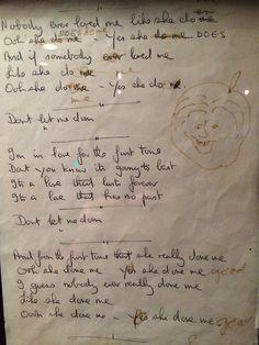 John Lennon's handwritten lyrics to Don't Let Me Down
