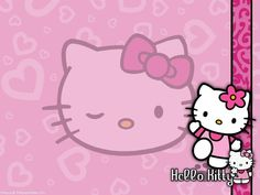 The cute little cat all in pink.