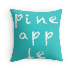 Pineapple - Turquoise - Throw Pillow Cover - http://annumar.com/en/designs/pineapple-turquoise-throw-pillow-cover