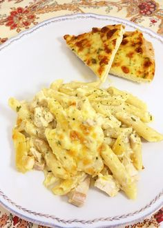 White Chicken Enchilada Pasta - my favorite enchilada recipe with pasta instead of tortillas - much easier!