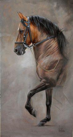 Horse painting by Walter Zuluaga~great rendition of a Morgan type horse. Pretty Horses, Horse Love, Beautiful Horses, Horse Drawings, Animal Drawings, Art Drawings, Arte Equina, Horse Artwork, Equine Art