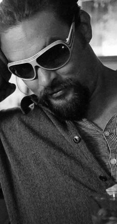 You know the look behind those glasses. Most Beautiful Man, Gorgeous Men, Beautiful People, Jason Momoa Aquaman, Aquaman Actor, My Sun And Stars, Star Wars, Celine Dion, Tom Hardy