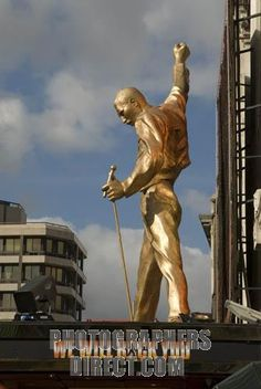 Another shot of the Freddie Mercury bronze statue at The Dominion Theatre in…