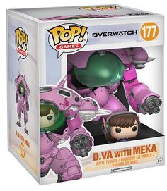From Overwatch, D.VA & Meka, as a stylized POP vinyl from Funko! Figure stands and comes in a window display box. Check out the other Overwatch figures from Funko! Figurines Funko Pop, Figurine Pop, Funko Pop Figures, Pop Vinyl Figures, Overwatch Pop Vinyl, Overwatch Pop Figures, Overwatch Merchandise, Pop Games, Geek Decor
