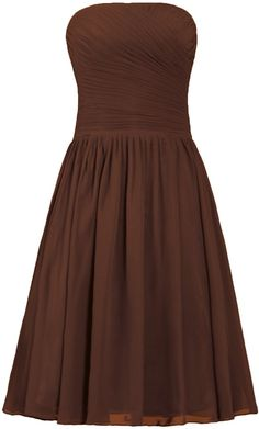 ANTS Strapless Chiffon Bridesmaid Dresses Short Cocktail Party Gowns -- To view further, visit now : Bridesmaid Dresses