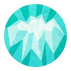 Blue Mountain Art Print — Designspiration