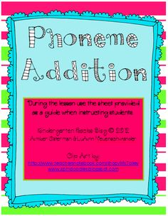 This could take the place of blue phonemic awareness book for now. Kindergarten Rocks!: 10 New Phonemic Awareness Activities @ Teachers Notebook!