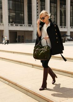 Love the Bag with the classic outfit