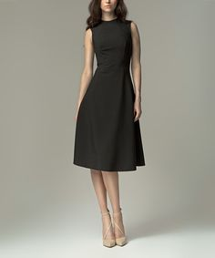 Look at this Black A-Line Dress on #zulily today!