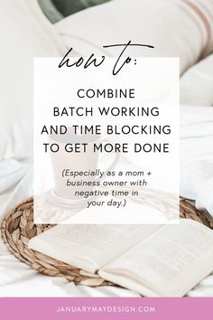 This is a list of batch working tips that I actually use as a mom + business owner to get more done throughout my week without getting as overwhelmed as I used to. Test these out if you're having productivity issues in your business! How To Make Money, How To Become, How To Get, How To Plan, Business Tips, Online Business, Block Scheduling, May Designs, Productivity Hacks