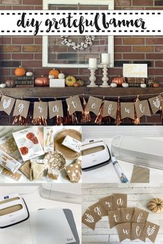 Make this simple and sweet grateful banner for your Thanksgiving or Friendsgiving decor with @MarthaStewart @MichaelsStores and @cricut on Everyday Party Magazine #Sponsored #Friendsgiving #Thanksgiving #DIY #EasyPress