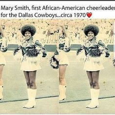 I finally got a little bit of love for the Dallas Cowboys how about dem Cowboys! Black History Facts, Black History Month, Black Power, Black Cheerleaders, Badass Women, Interesting History, African American History, Women In History, Illustrations