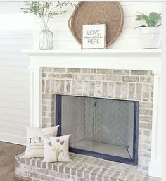 corner fireplace ideas (fireplace ideas) Tags: corner fireplace DIY, corner fireplace furniture arrangement, corner fireplace decorating, corner fireplace makeover fireplace ideas with tv White Wash Brick Fireplace, Brick Fireplace Makeover, Farmhouse Fireplace, Fireplace Remodel, Fireplace Mantle, Fireplace Design, Shiplap Fireplace, Fireplace Ideas, Fireplace Decorations