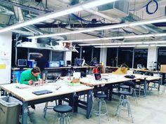 Working late at the Maker Lab...  #maker #MSc #SCU #3dprinting #lasercutter #USA #ElSalvador by _ijmrtll