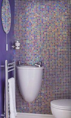 Purple bathroom tile Modern Bathroom Tile Mosaic Bathroom Bathroom Floor Tiles Bathroom Tile