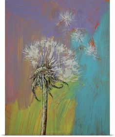 Michael Creese Poster Print Wall Art Print entitled Dandelion, None