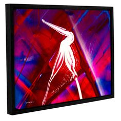 The Pelican by Byron May Floater Framed Painting Print on Wrapped Canvas