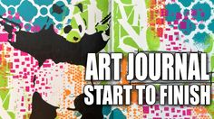 How to: Art Journal Page - Positive Change