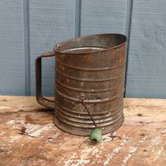 Bromwell Flour Sifter - Primitive Flour Sifter by theindustrycottage on Etsy