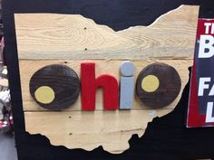 Hand Crafted Ohio State Sign Ohio State by TheDepotLakeviewOhio