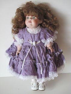 Porcilian Doll In Purple Dress