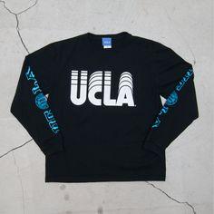 """画像3: オールドプリント""""UCLA-SLIDE""""米綿長袖TEE/ Audience (3)"""