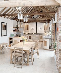 love the natural wood and exposed beams