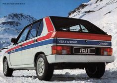 Citroën Visa II Chrono Peugeot 104, Automobile, Citroen Car, Race Cars, Classic Cars, Retro, Vehicles, Ds, Chevrons