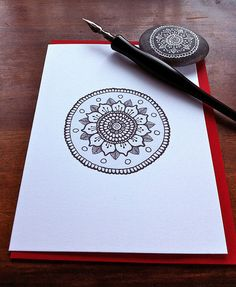 Ink drawing mandala