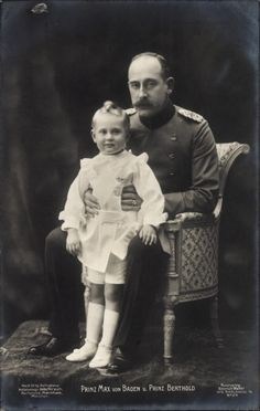 Ansichtskarte / Postkarte Prinz Max von Baden, Sohn Prinz Berthold, Portrait