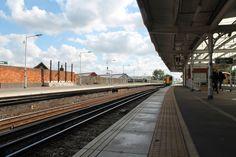 Selhurst station with train.