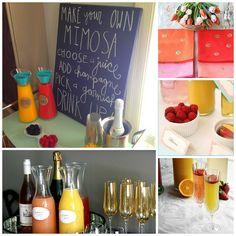 Cheers: DIY Mimosa Bar + Shopping List Ideas #wedding