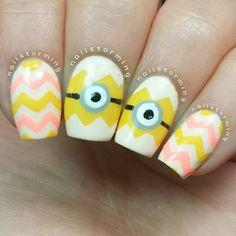 nailstorming minions easter #nail #nails #nailart