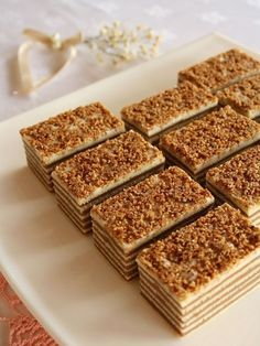 nougat mađarica - croatian cake (recipe in croatian) Sweet Recipes, Cake Recipes, Dessert Recipes, Russian Cakes, German Desserts, Mini Tortillas, Czech Recipes, Dessert Bars, Christmas Baking