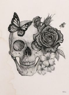 Image result for sugar skull tattoos for females