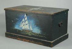 Antique Sailor Trunk