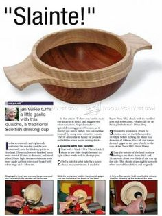 #1141 Scottish Drinking Cup - Woodturning Projects - Woodturning