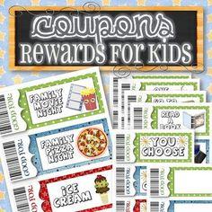Editable and Easy-to-Use Printable Reward Coupons for Kids Reward/Gift Coupons for Kids Chore Rewards, Reading Rewards, Behavior Rewards, Kids Rewards, Reward Coupons, Gift Coupons, Behavior Chart Toddler, Behaviour Chart, Toddler Discipline