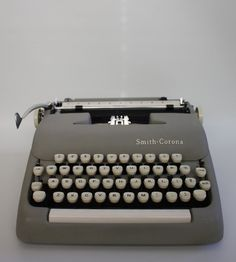 """Vintage Smith Corona Typewriter. How I learned """"keyboarding,"""" I mean , typing."""
