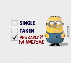 Who Cares Im Awesome funny quotes quote awesome funny quote funny quotes humor minions minion quotes Funny Minion Pictures, Funny Minion Memes, Minions Quotes, Funny Texts, Funny Jokes, Hilarious, Minion Photos, Funny Sarcastic, Sarcastic Quotes