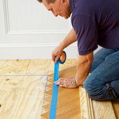 Great tutorial DIY installation of chevron/herringbone floor. Maybe the living room? How to Install a Herringbone Floor