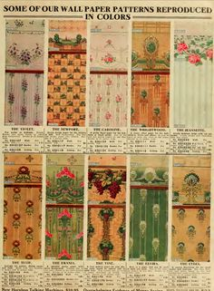 Wallpaper from the 1912 Sears catalog.