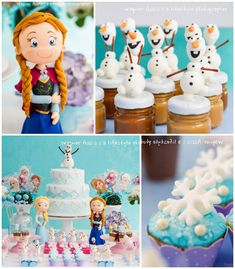 Frozen themed birthday party via Kara's Party Ideas KarasPartyIdeas.com Cakes, favors, printables, games, and more! #frozen #frozenparty #di...