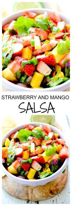 Strawberry and Mango Salsa for Cinco de Mayo - Recipe Diaries