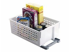 Are you tired of pulling everything out of the cabinet just to get to one item in the back? The Slide 'n Stack Sliding Baskets give you easy access to the items in the back of the cabinet.