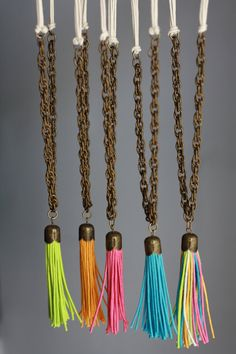 Summer Tassel Long Necklace