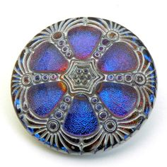 Vintage Style Contemporary Czech Glass Button  by TheBeadedBead, $10.00