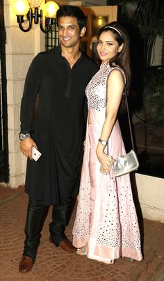 Sushant Singh Rajput and Ankita Lokhande at Ekta Kapoor's #Diwali bash. #Bollywood #Fashion #Style #Beauty #Hot #Desi