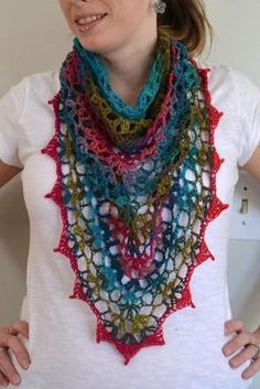 free shawl/scarf crochet pattern by Kat K.